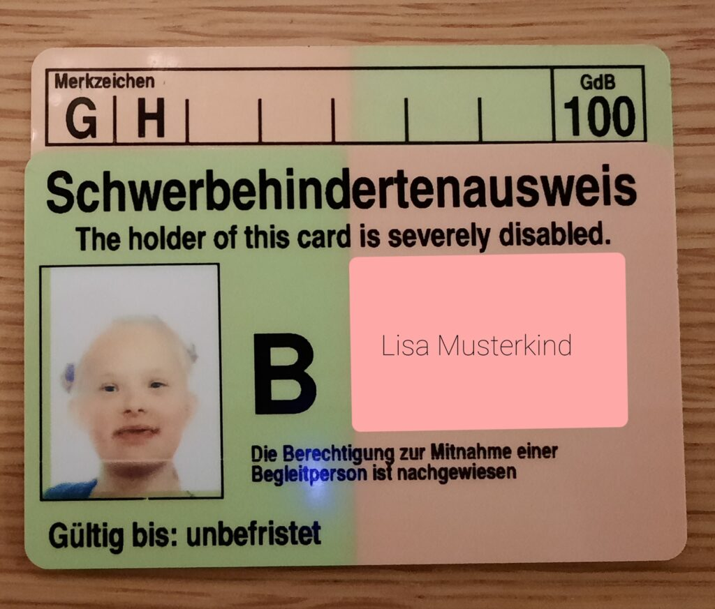 Schwerbehindertenausweis Kind
